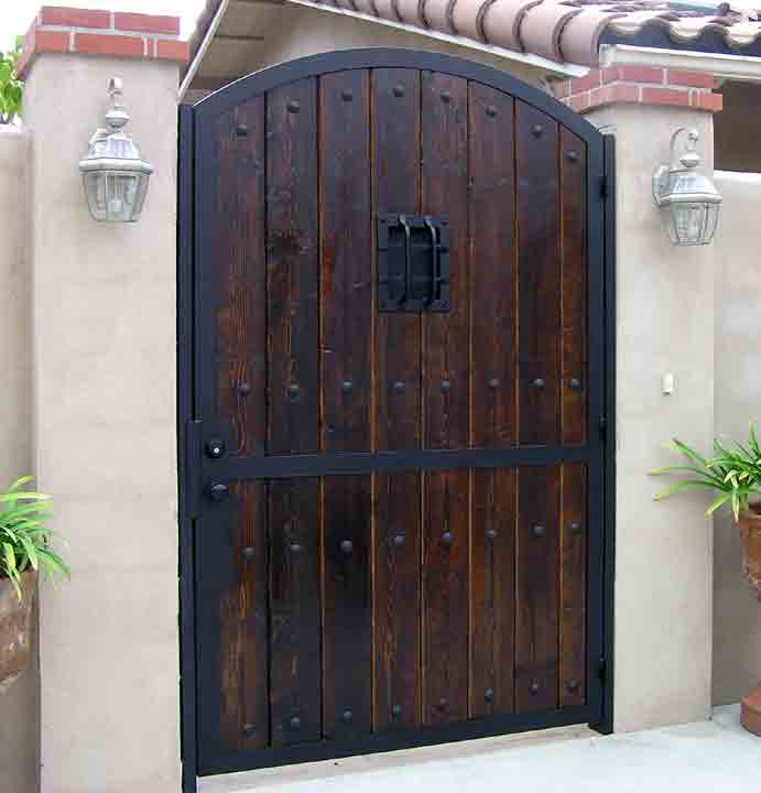 Iron u0026 Wood Combination Gate Designs & Gates - Iron-Wood Gates