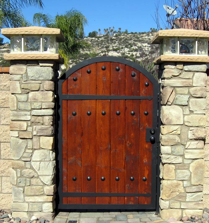 Iron Wood Combination Gate Designs